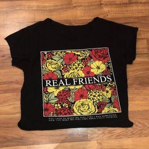 Real Friends (made crop Top) Shirt